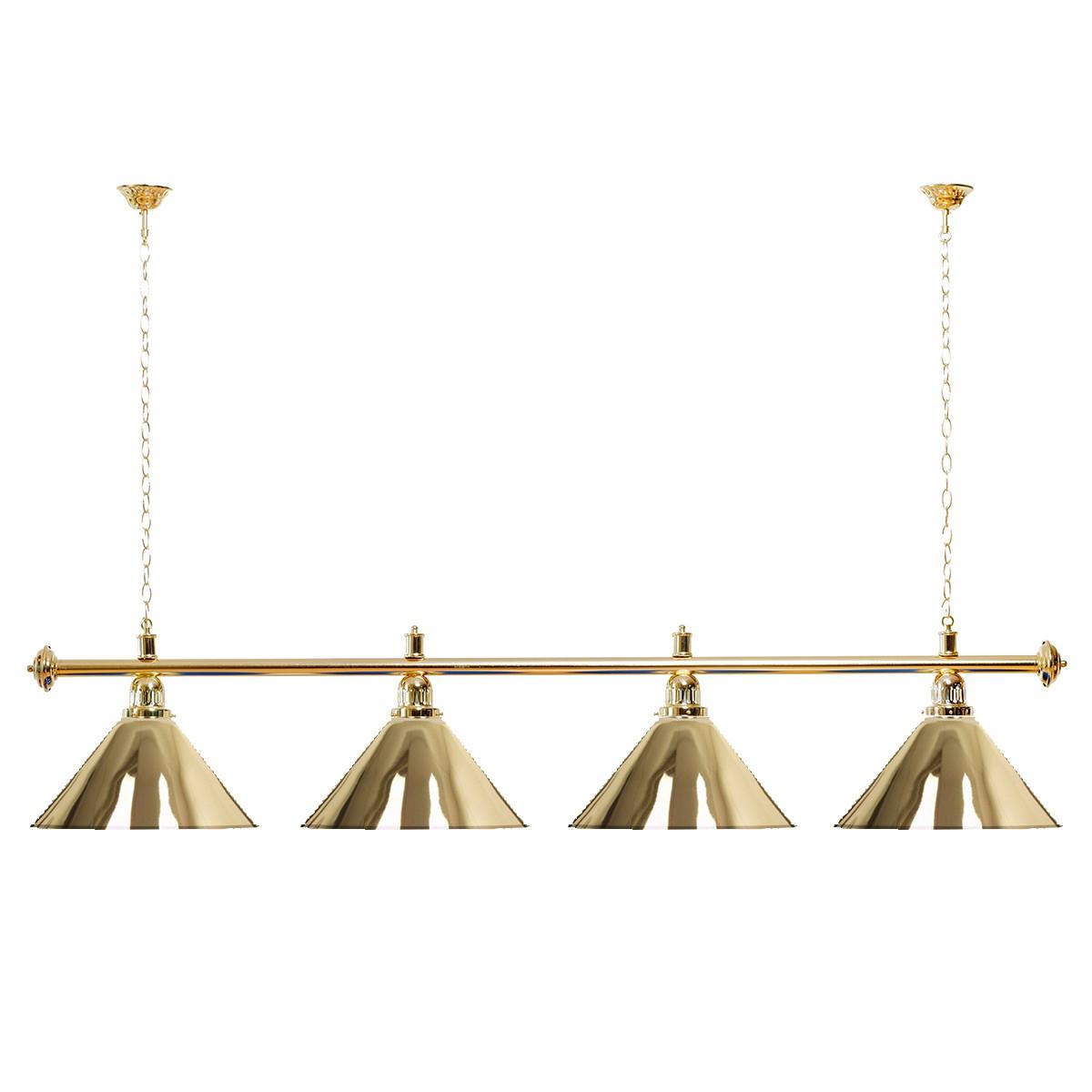 Billard Lampe 4 Schirme gold / goldfarbene Halterung